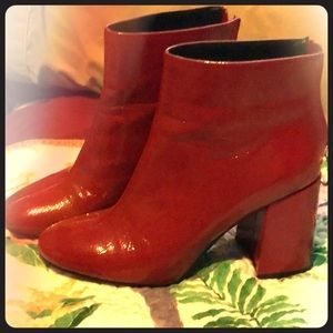 Red hotties. Faux leather